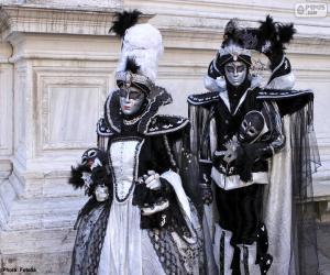 Puzle Dvě elegantní kostýmy