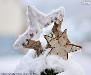 Puzle Dvě hvězdy se sněhem