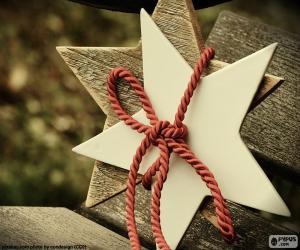 Puzle Dvě hvězdy ze dřeva