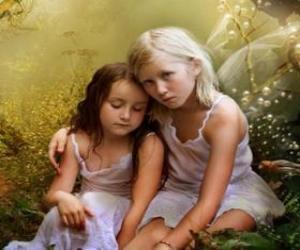 Puzle Dvě mladé víly
