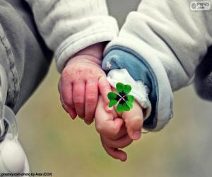 Puzle Dvě ruce dětí