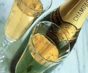 Puzle Dvě sklenice na šampaňské