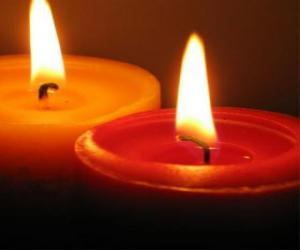 Puzle Dvě svíčky