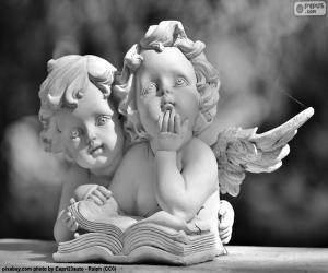Puzle Dva andělé lásky