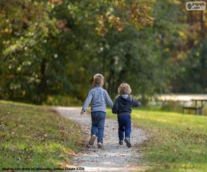 Puzle Dva bratři běží