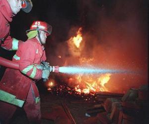 Puzle Dva hasiči v akci