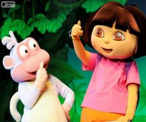 Puzle Dva kamarádi, Dora a Boty