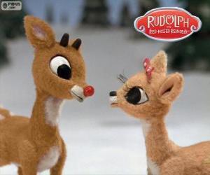 Puzle Dva mladí soby Rudolf a Fireball