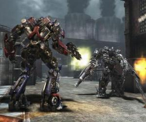 Puzle Dva roboti Transformers