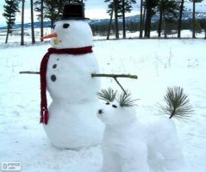 Puzle Dva sněhuláci