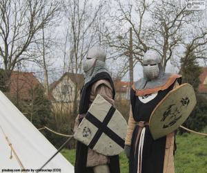 Puzle Dva vojáci ze středověku