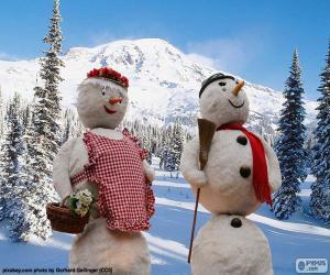 Puzle Dvojice sněhuláků
