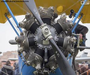 Puzle Dvouplošník motor