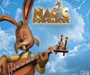 Puzle Dylane, králík, který hraje na kytaru