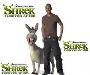 Puzle Eddie Murphy poskytuje hlas osla, v poslední film Shrek Forever Po