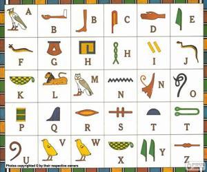 Puzle Egyptská abeceda