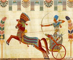 Puzle Egyptský válečník a kočár