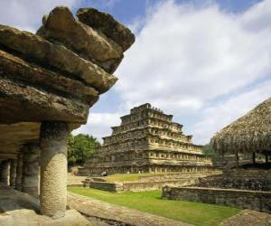 Puzle El Tajin je archeologické lokalitě, Veracruz, Mexiko