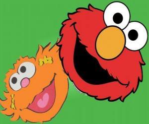 Puzle Elmo a Zoe