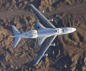Puzle Endevor Space Shuttle prováděné 747