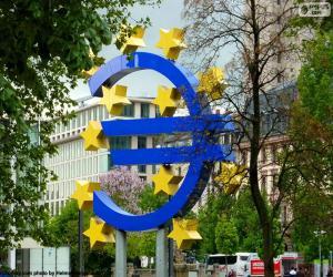 Puzle Evropská centrální banka logo
