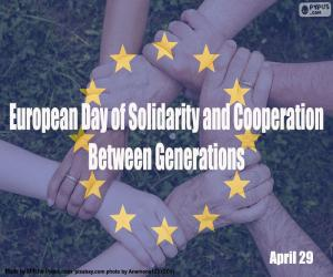 Puzle Evropský den solidarity a spolupráce mezi generacemi