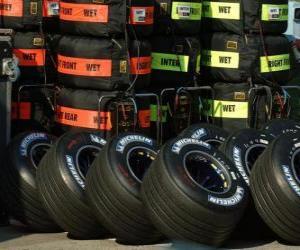 Puzle F1 pneumatiky