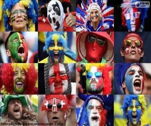 Puzle Fanoušci v Euro 2016