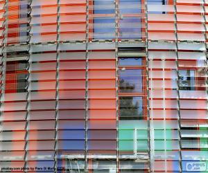 Puzle Fasádní Torre Agbar, Barcelona