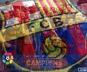 Puzle FC Barcelona, šampion 2015-2016