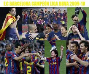 Puzle FC Barcelona Champion Liga BBVA 2009-2010