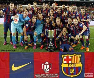 Puzle FC Barcelona Copa del Rey 2014-2015