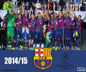Puzle FC Barcelona Liga mistrů 14-15