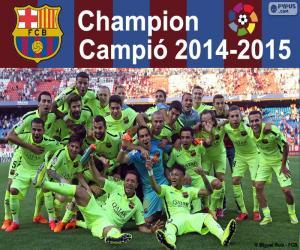 Puzle FC Barcelona, mistr 2014-2015
