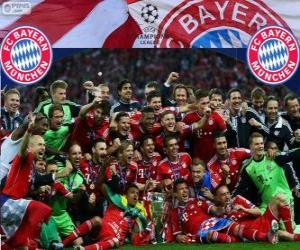 Puzle FC Bayern Mnichov, vítěz Liga mistrů UEFA 2012–13