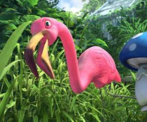 Puzle Featherstone, osamělý Flamingo