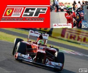 Puzle Felipe Massa - Ferrari - Grand Prix Japonska 2012, 2 nd klasifikované