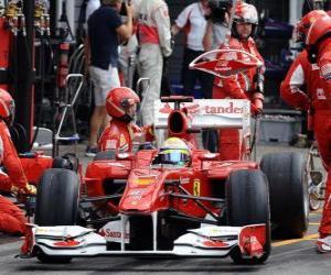 Puzle Felipe Massa - Ferrari - Hockenheim 2010