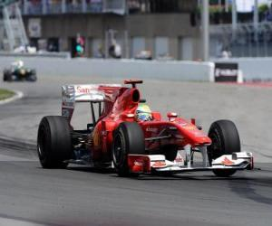 Puzle Felipe Massa-Ferrari - Montreal 2010