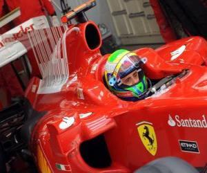 Puzle Felipe Massa - Ferrari - Shanghai 2010
