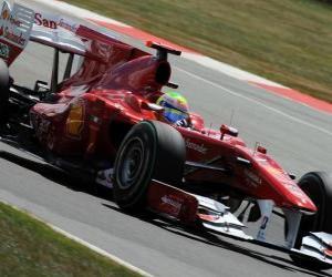 Puzle Felipe Massa - Ferrari - Silverstone 2010
