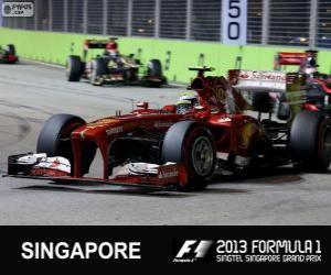 Puzle Felipe Massa - Ferrari - Singapur, 2013
