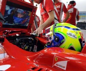 Puzle Felipe Massa, v rozvoji svého Ferrari
