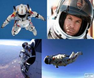 Puzle Felix Baumgartner skákací stratosféry