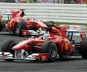 Puzle Fernando Alonso, Felipe Massa, Hockenheim, německé Grand Prix (2010)
