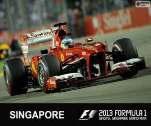 Puzle Fernando Alonso - Ferrari - 2013 Grand Prix Singapuru, svírající klasifikované