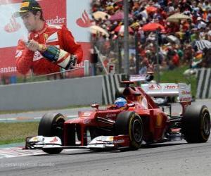 Puzle Fernando Alonso - Ferrari - Grand Prix Španělska (2012) (2. místo)