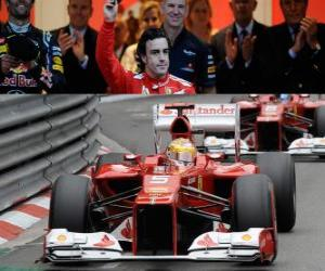 Puzle Fernando Alonso - Ferrari - GP Monako 2012 (3. místo)
