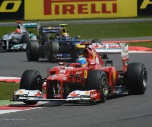 Puzle Fernando Alonso - Ferrari - Grand Prixe Anglie 2012, 2. pozice