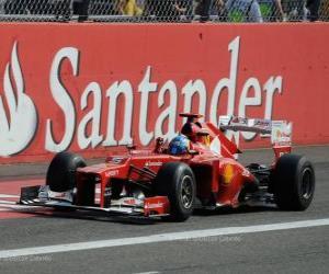 Puzle Fernando Alonso - Ferrari - Grand Prix Itálie 2012, 3. klasifikované